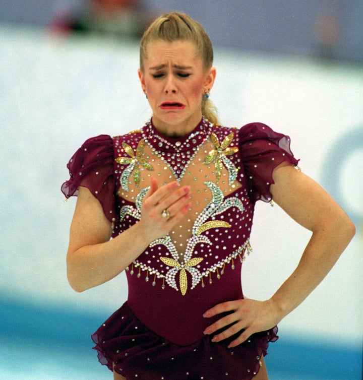 Tonya Harding of the USA gets emotional after a problem with her skate in 1994.