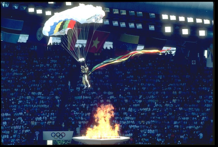 An extreme entrance to the 1988 Summer Olympics in Seoul.