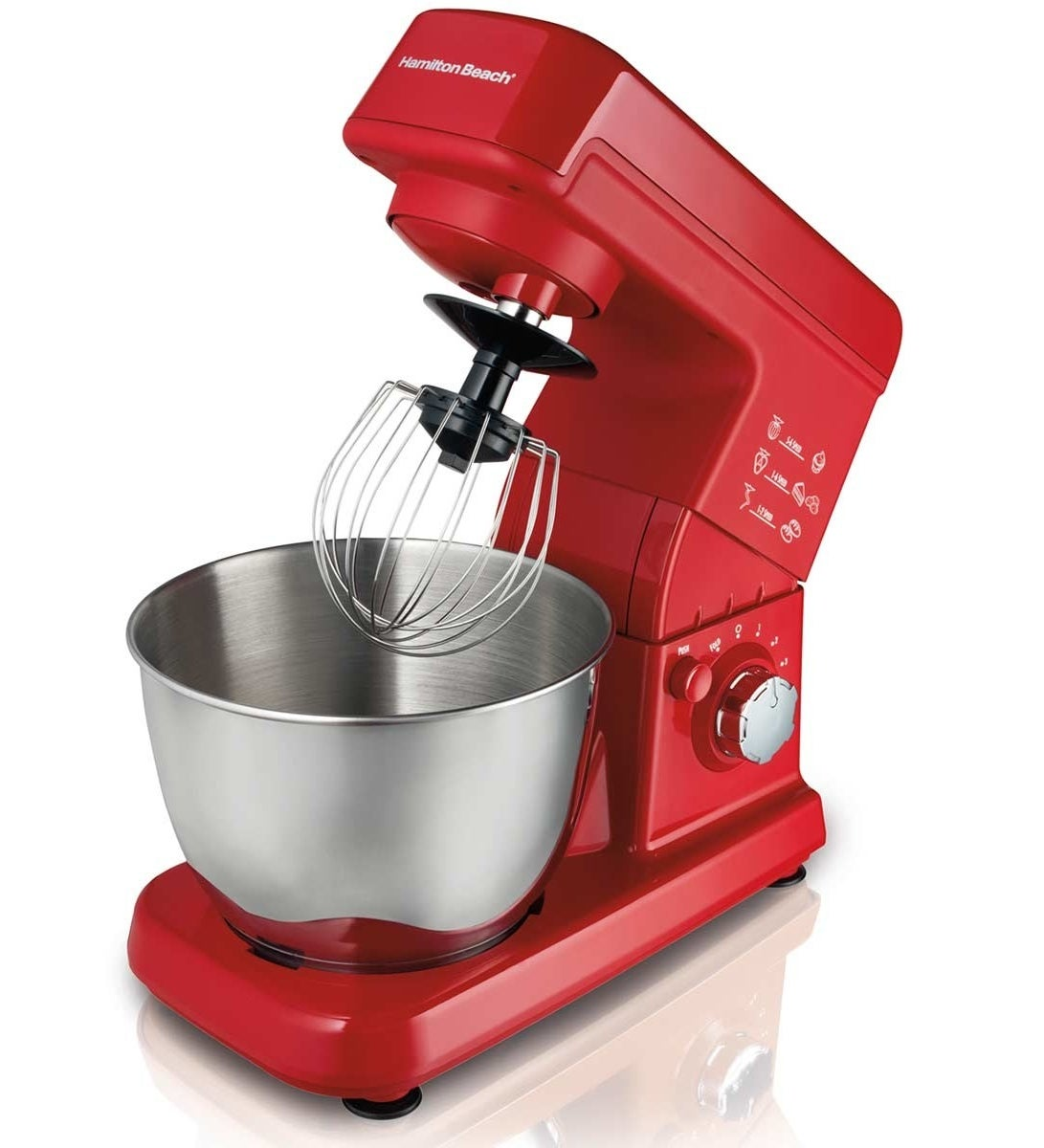 A three-quart stand mixer with three separate attachments that's counter-friendly and perfect for smaller households.