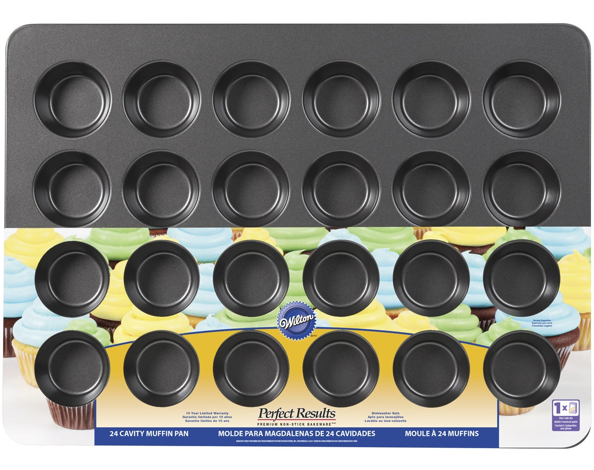 A 22-inch baking pan that can make 24 cupcakes in one shot.