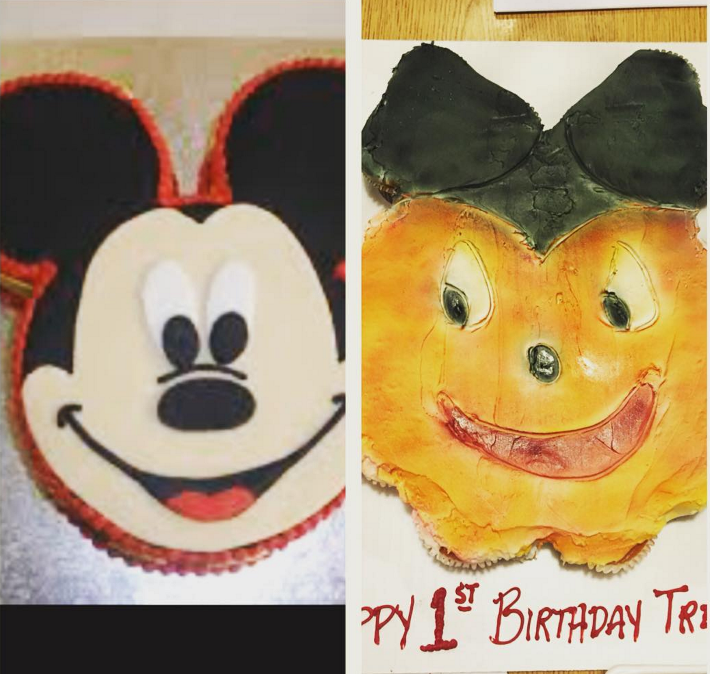 scary mickey cake