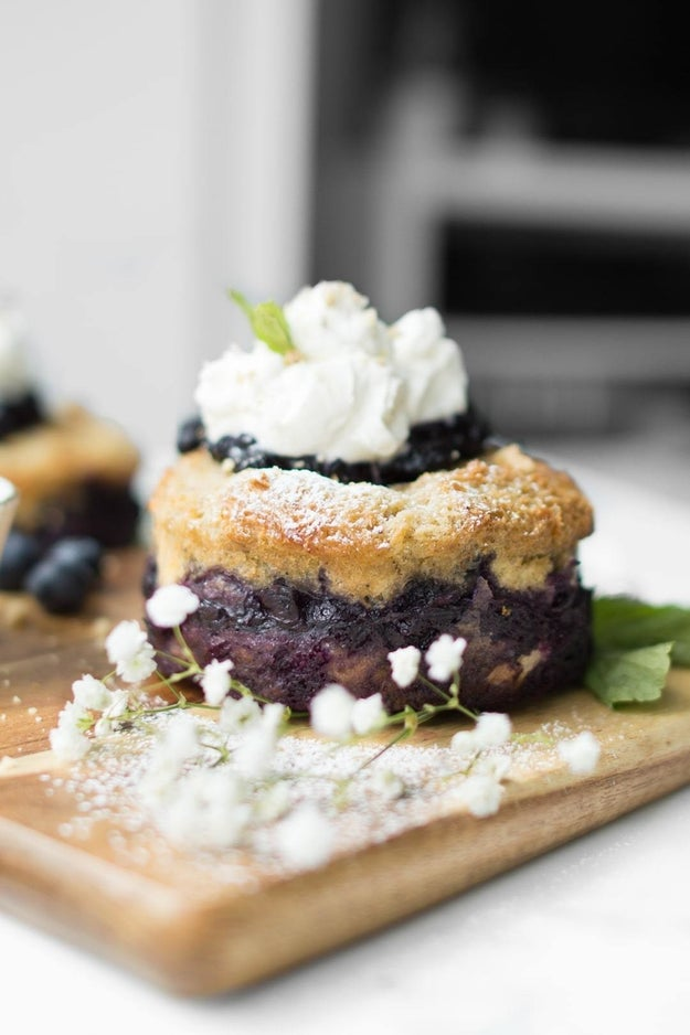 Baked Blueberry French Toast Cake With Whipped Cream