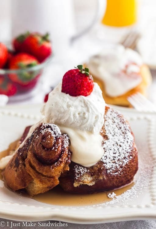 Cinnamon Roll French Toast With Cream Cheese Glaze
