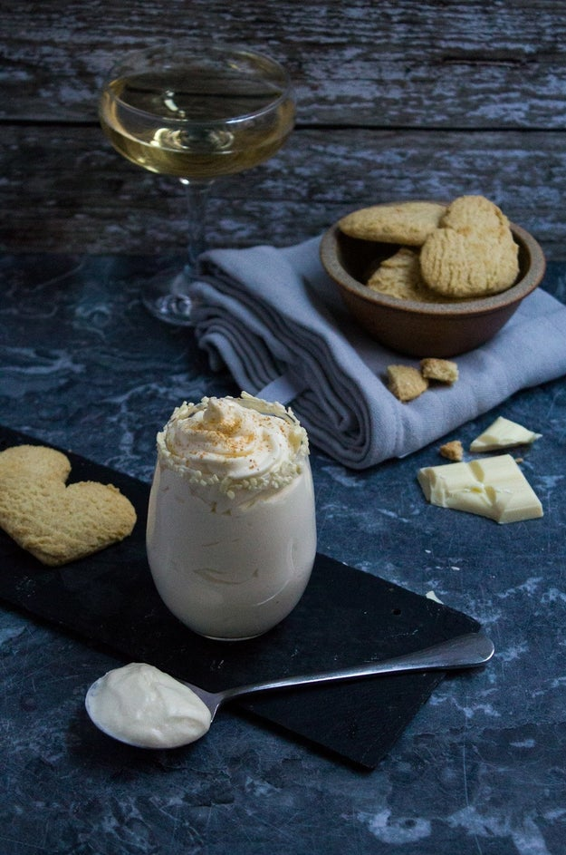 White Chocolate Champagne Possets