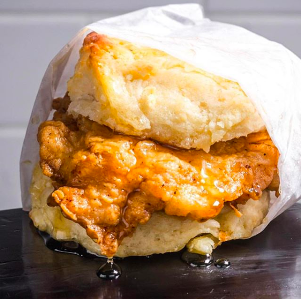 Honey Chicken Biscuit from Bobwhite Counter