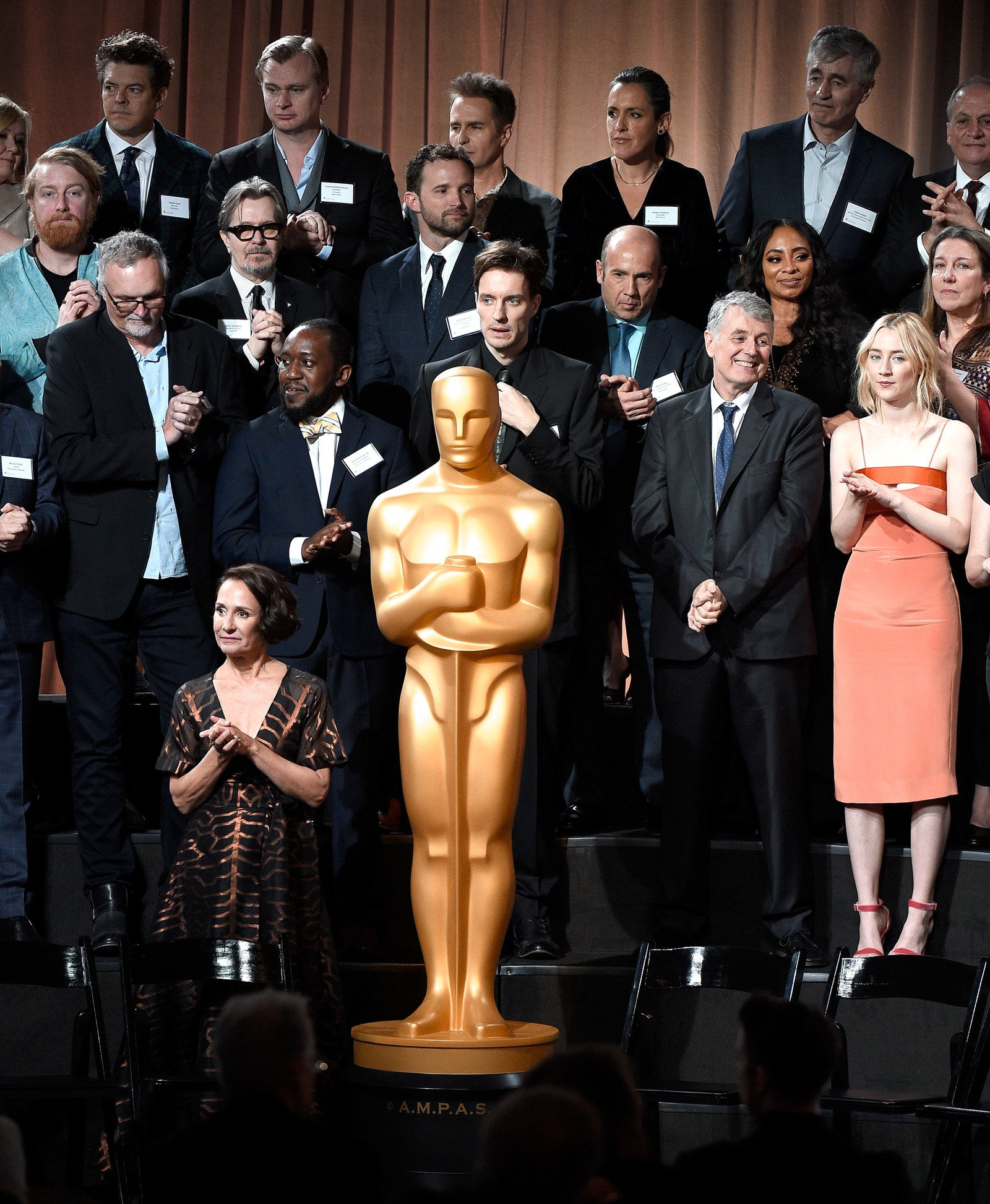 Oscar nominees at the Oscar Nominee Luncheon at the Beverly Hilton Hotel on Feb. 5, 2018.