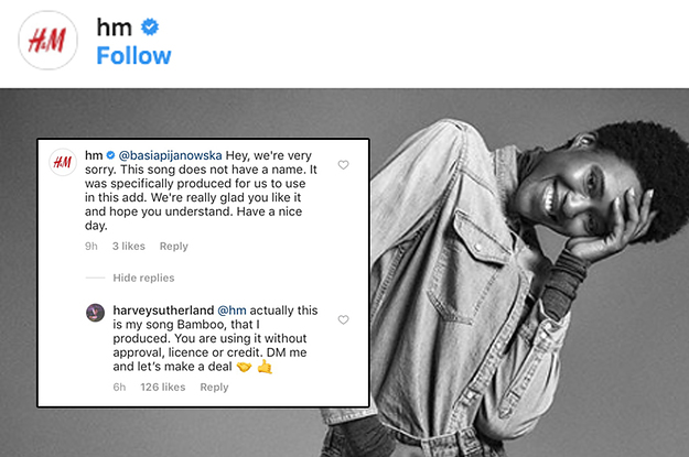 This Musician Has Slammed H&M For Using His Track On Instagram Without Permission