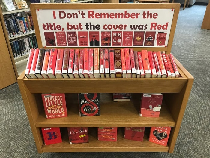 Bart Leib, who works as a circulation substitute at the library, shared the photo of the display on Twitter.