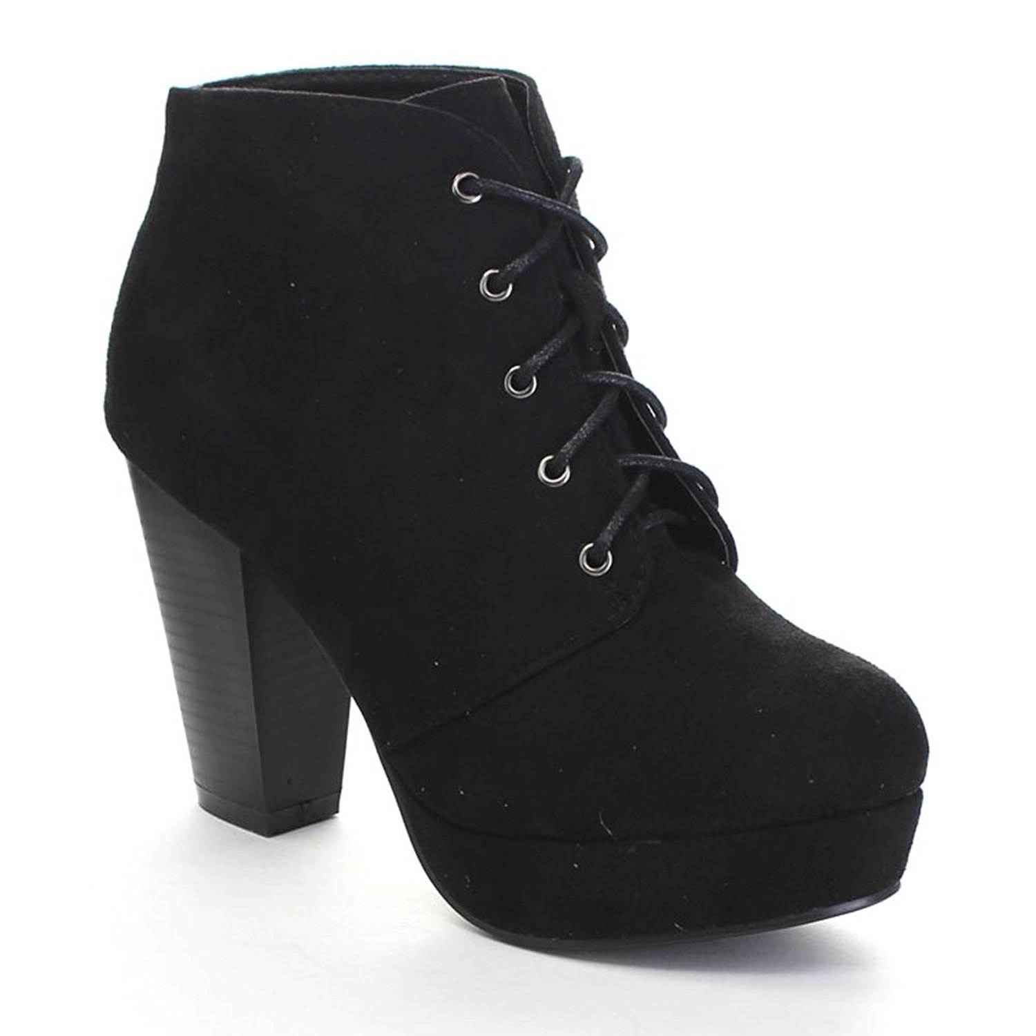 37d5a33f58 A pair of boots with four-inch heels that feel way less high thanks to the  platform.