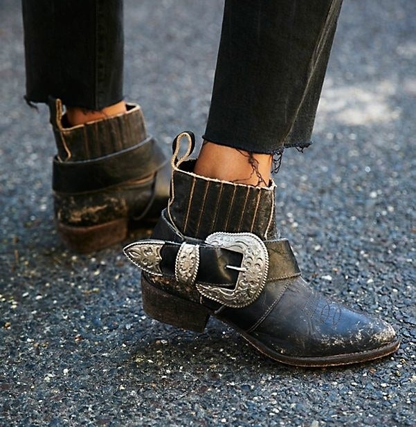"""Promising review: """"My new favorite pair! The leather is dreamy. Quality is great. No worry about breaking them in, perfectly comfortable from the moment I put them on. True to size."""" —sarahfpuvGet them from Free People for $295 (available in sizes 6–10 and two colors)."""