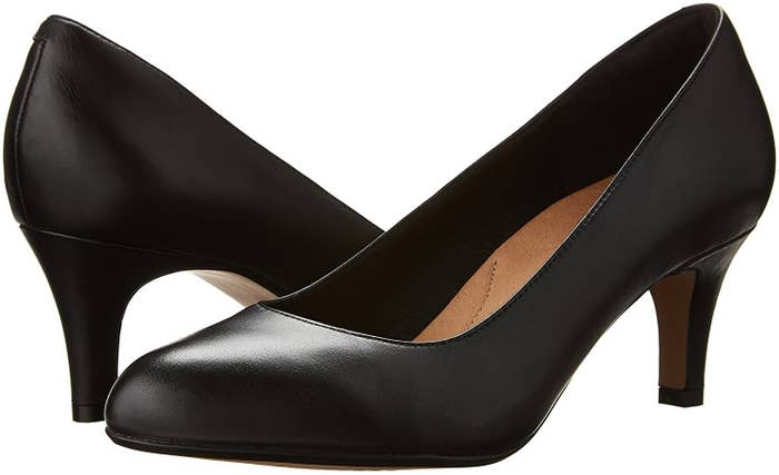 9c6a7e6977 A pair of Clark s pumps with rubber soles you can trust to treat your feet  kindly.