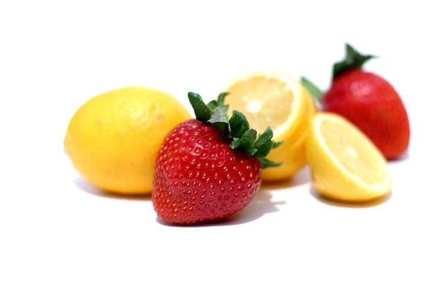 A lemon has more sugar than a strawberry.