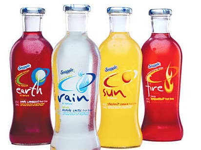 Photo of Earth, Rain, Sun, and Fire flavored Snapple Elements