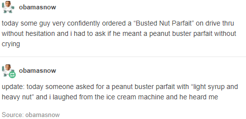 The people who just wanted a parfait: