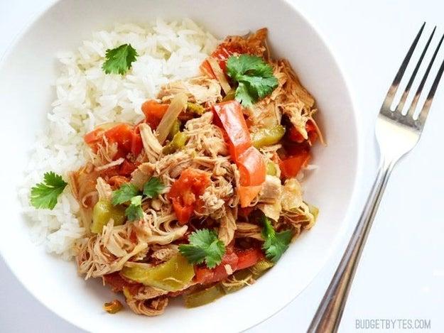Slow Cooker Chicken Ropa Vieja
