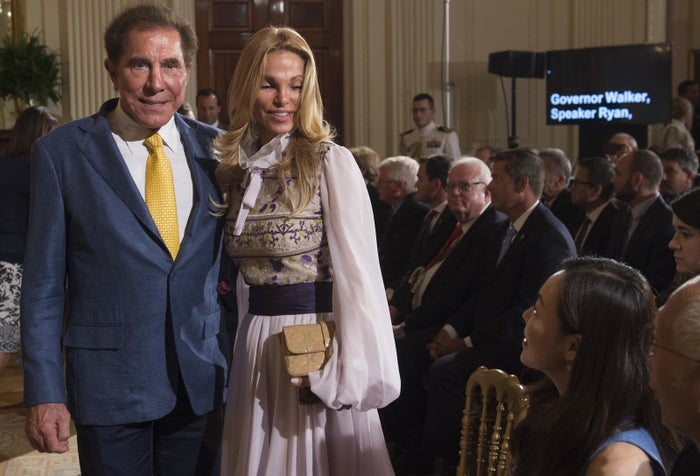 US casino owner Steve Wynn and his wife, Andrea, on July 26, 2017.