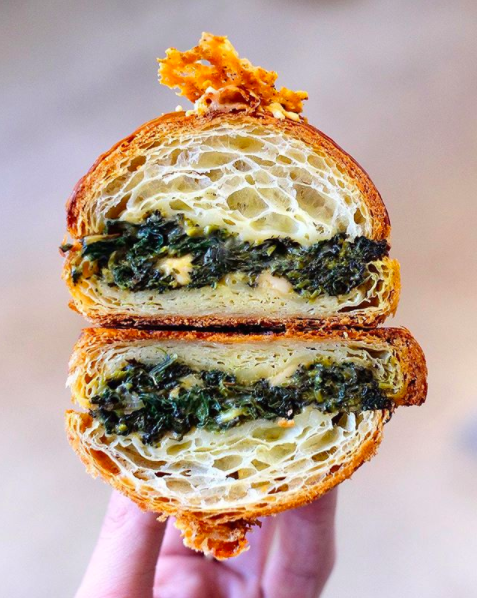 Spinach Pie Twice Baked Croissant from Supermoon Bakehouse