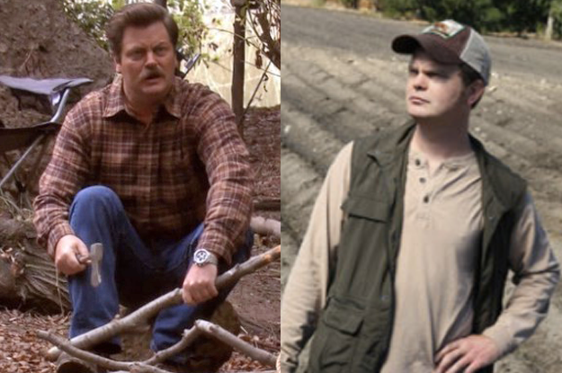 Ron Swanson would feel right at home on Schrute Farms, and would help Dwight and Mose take the farm completely off-the-grid so the government can't trace them.