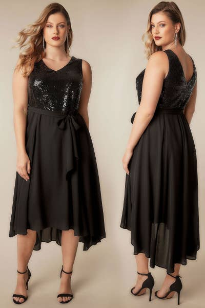 37a06dc53a0bc 12. Yours Clothing offers sparkly plus-size evening gowns guaranteed to  give everyone serious dress-envy.
