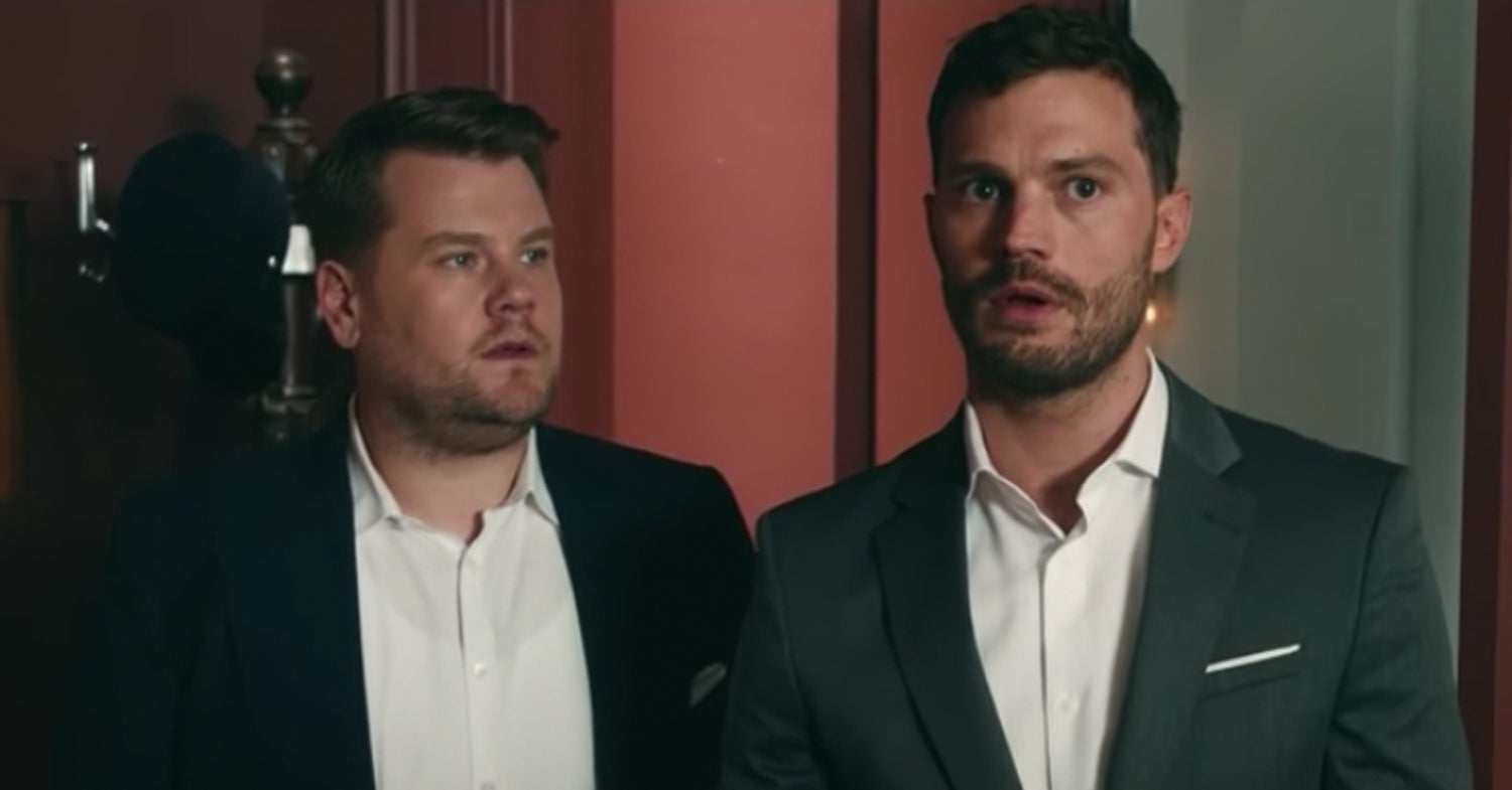 "James Corden And Jamie Dornan Did A Shot-For-Shot Remake Of An Iconic ""Fifty Shades"" Scene And I'm Dead"