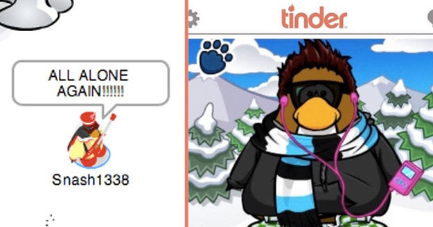 Swipe Right Or Left On These Club Penguins And We'll Tell You How You'll Spend Valentine's Day