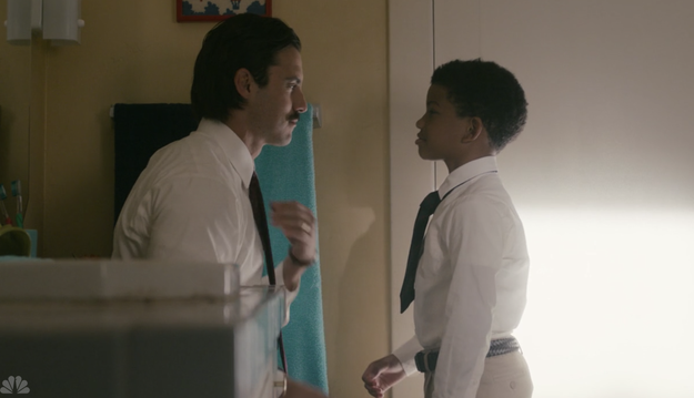And then, when he convinced Randall to go to a new private school and taught him how to tie a tie.