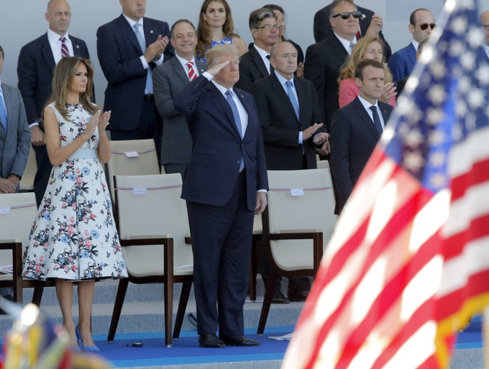 """""""It was two hours on the button and it was military might and, I think, a tremendous thing for France and for the spirit of France,"""" Trump said at the time. """"To a large extent, because of what I witnessed, we may do something like that on July 4 in Washington down Pennsylvania Avenue."""""""