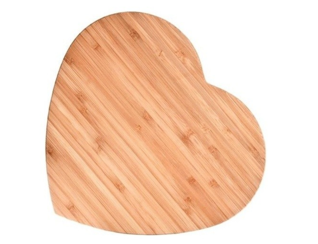 A large cutting board made from environmentally friendly bamboo that's even harder than maple wood.
