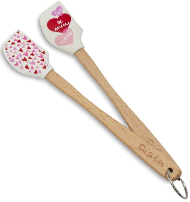 A couple of heat-resistant spatulas that are honestly perfect for each other.