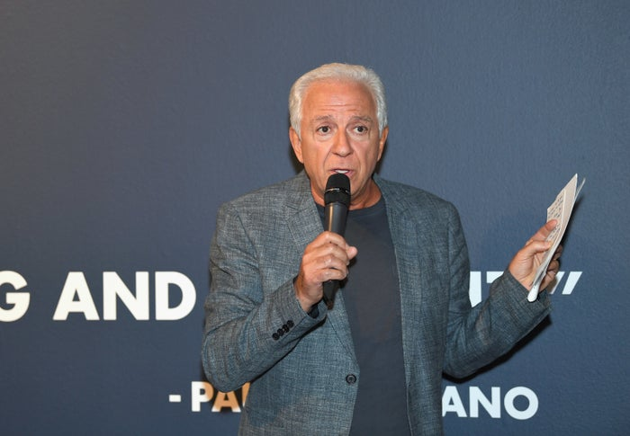 Paul Marciano, cofounder of Guess, speaks at an event in Los Angeles.