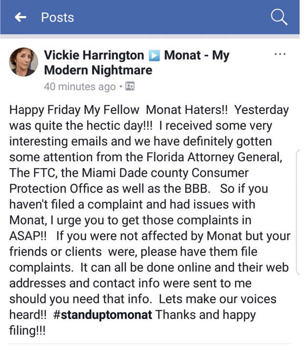 """In the lawsuit, Monat says its products have """"passed all clinical safety tests to which they have been subjected,"""" adding, """"Monat has seen no bona fide evidence that Monat's products cause scalp burns, sores, irritation, hair loss, or balding, as Harrington claims."""""""