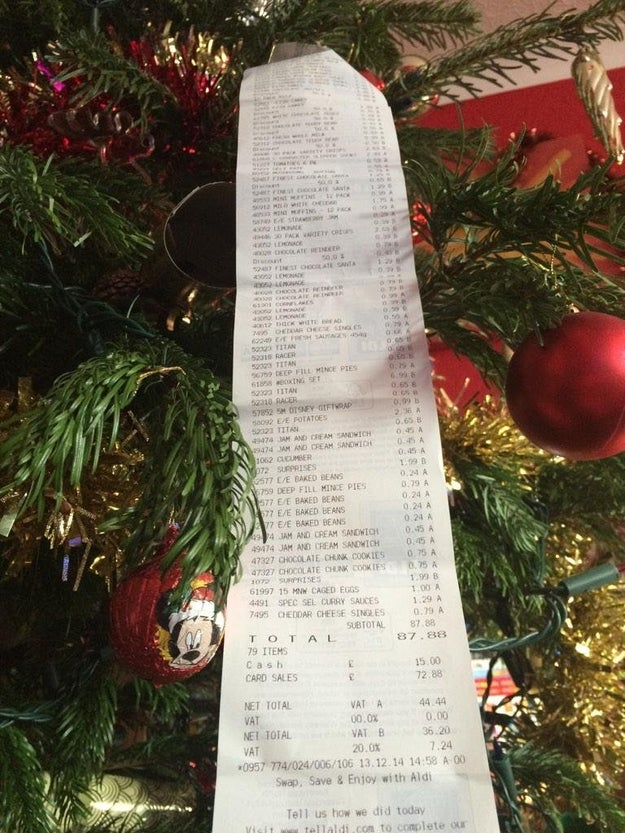 Your receipt after an Aldi haul: