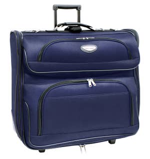 54dc415c194bf9 A rolling garment bag so you can have a ready-to-wear (and wrinkle-free)  suit as soon as you step off the plane.