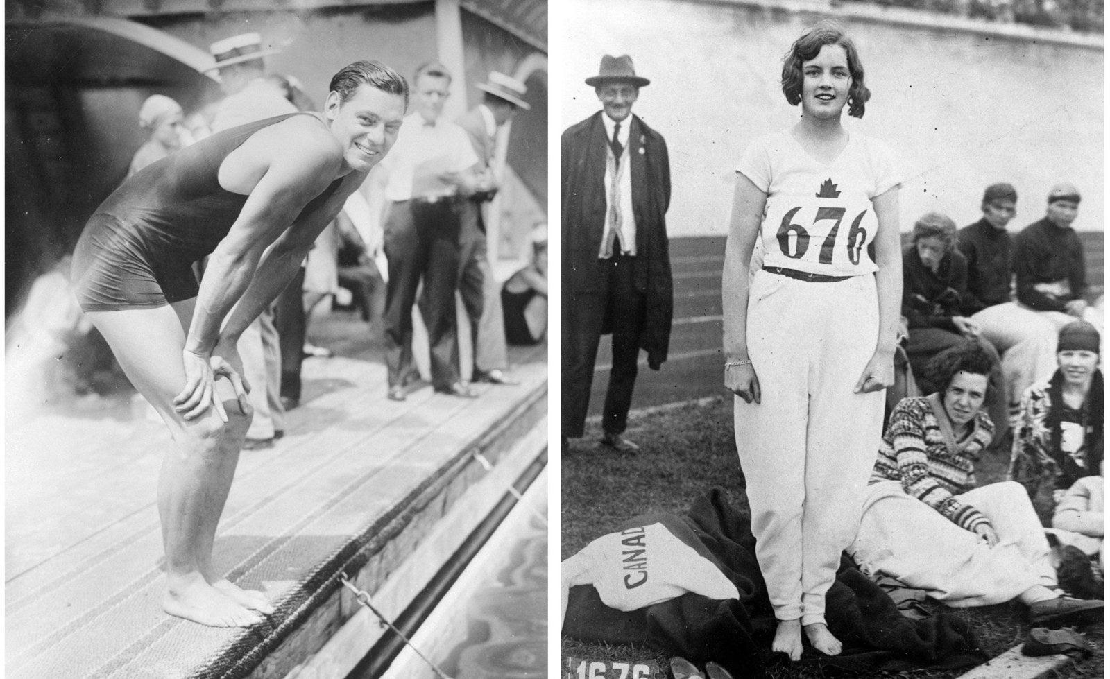 白黒時代のオリンピックを映した...