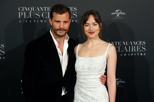 Now it's February 2018, and we've been gifted our third and final Fifty Shades carpet. On Feb. 6, 2018, Mr. and Mrs. Grey graced the carpet for the last time in Paris.