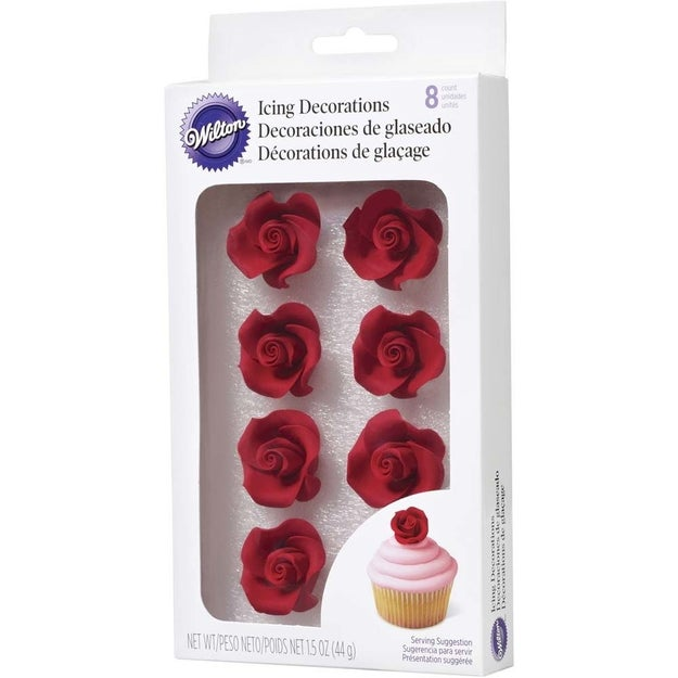 A pack of edible icing decorations, because you're allowed to be as extra as you want to be on Valentine's Day.