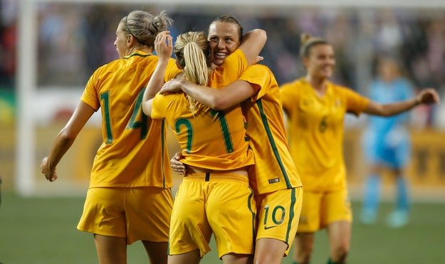 Here are some members of the Australian women's soccer team, the Matildas.