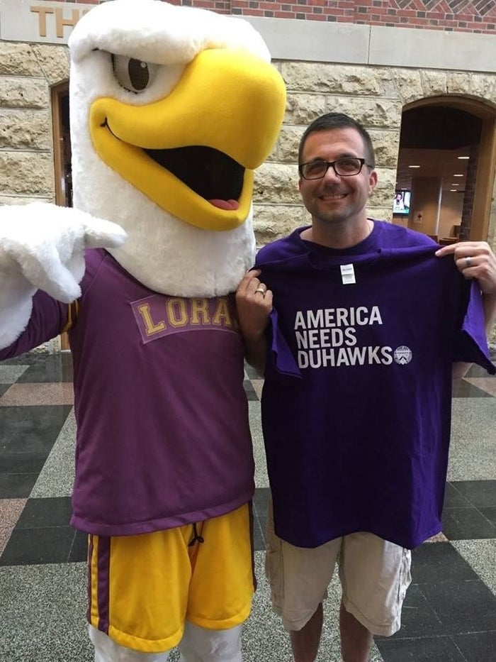Dig out your favorite Duhawk apparel! Whether it's your favorite t-shirt, a hat or a crazy pair of socks, show your Duhawk pride!