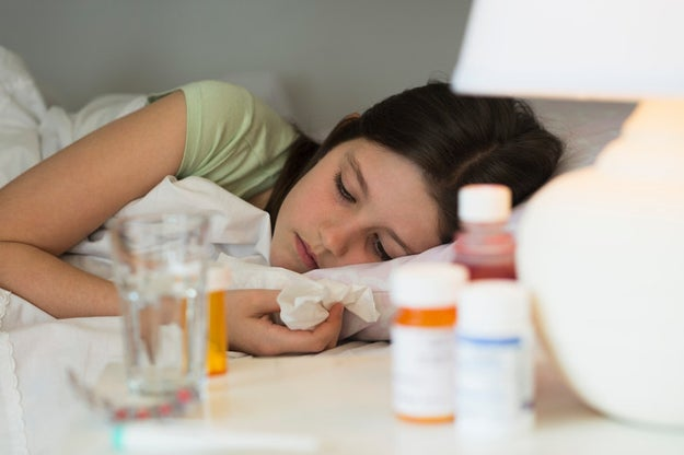 If your child gets sick and they aren't in a high-risk category, keep them home and treat any symptoms as necessary.