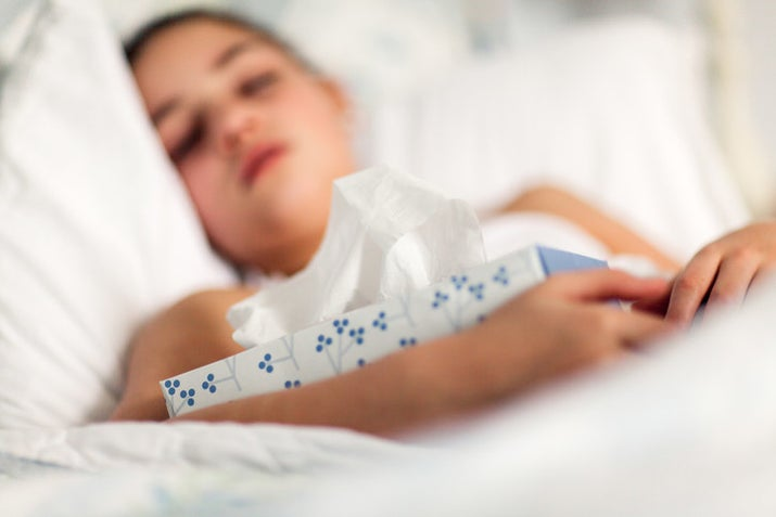 """""""Symptoms to look for in a child are a sudden fever of 102 degrees or higher, persistent fever, difficulty breathing, inability to eat or drink, not urinating for over 8 hours, cottonmouth, sunken eyes, or dizziness,"""" Jacobson says. If your child has any of these symptoms, you should seek medical care — whether that means going to the doctor or urgent care or an emergency room. """"If the child goes into respiratory distress or shows signs of collapsing, call 911 right away,"""" Jacobson says.Another thing parents should watch out for is a fever that comes back after going away. """"Anyone who has had a fever that went away for at least three days and came back should go to the hospital or doctor's office, because this could be a sign of a bacterial infection in the lungs — even if it's just a middle ear or sinus infection, you should get it checked out; it could be life-threatening,"""" Jacobson says.Most important, parents should trust their instincts. If, in your gut, you know something is wrong with your child, then call or go see a pediatrician or take them to the hospital."""
