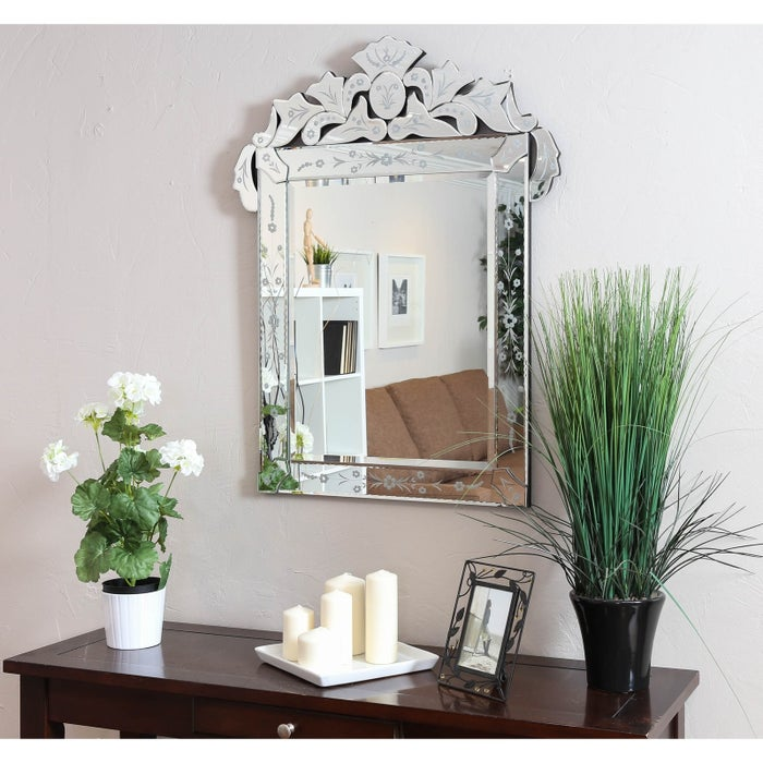 """Bonus: it comes with all the hanging hardware you need!Price: $169.99 (retail price $470.99)Promising review: """"This mirror is so beautiful. I like the floral etching and other designs around the mirror. It is a perfect addition to one of my guest rooms. The price was reasonable compared to other Venetian mirrors I looked at furniture stores. I highly recommend this mirror! It is heavy, so hang with strong anchors. Exquisite!!"""" —OstkUser27244761"""