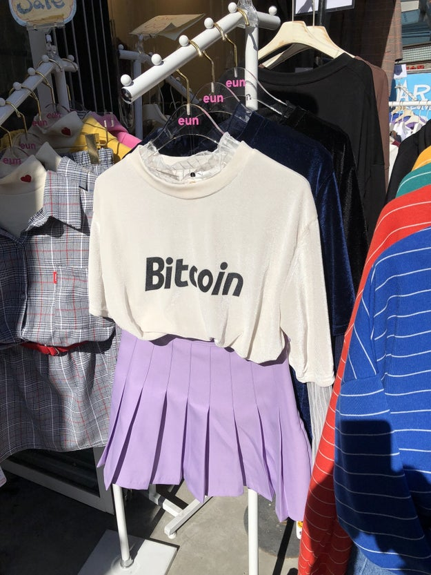 A shirt celebrating Bitcoin.