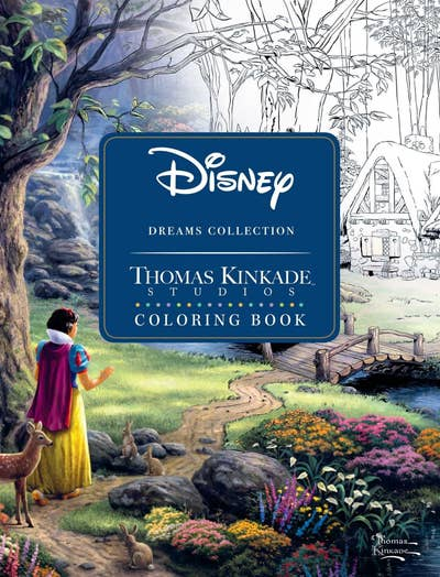 A Book Filled With Coloring Pages And Prints Of Paintings By Thomas Kinkade So You Can Compare Your Work Against The Painter Light