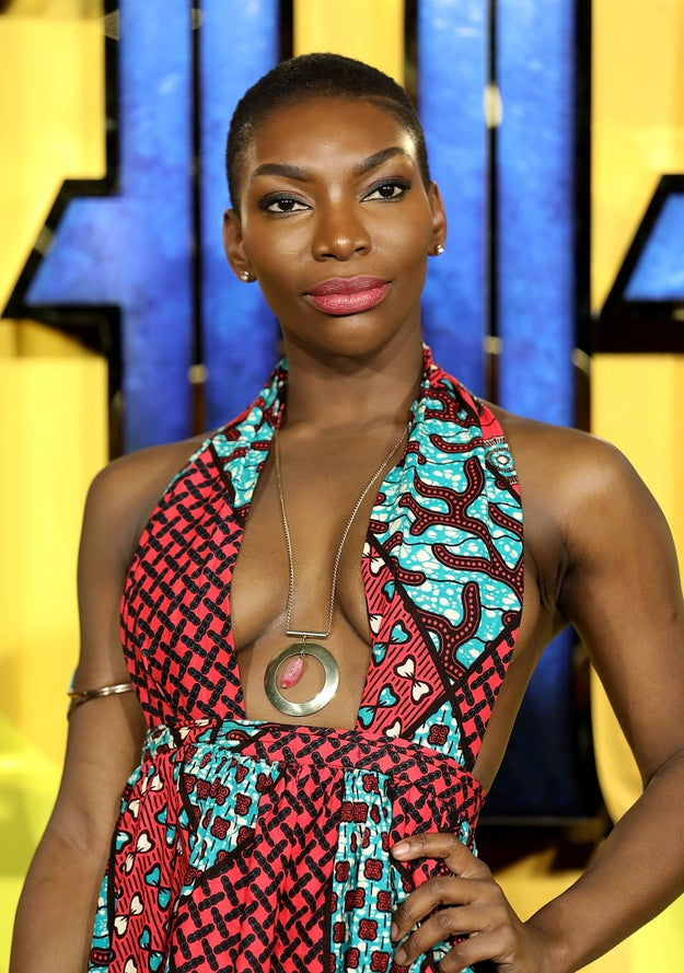 Anyway, Michaela (who's British, btw) attended the London premiere of Black Panther, and she looked AH 👏 MAZ 👏 ING 👏.