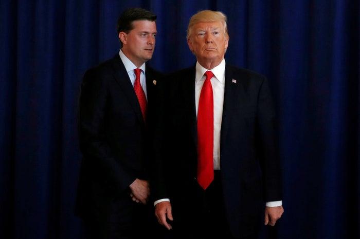 Rob Porter and Donald Trump.