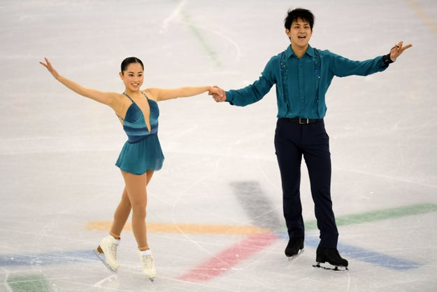 Japanese pair figure skaters Miu Suzaki and Ryuichi Kihara set Twitter on fire during the first round of the Olympic team figure skating event Friday.