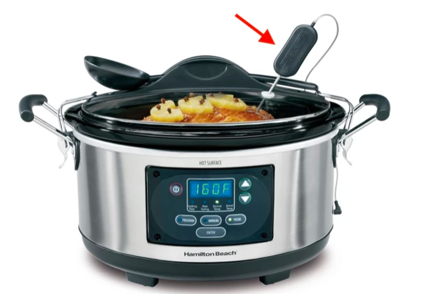Tricks like fitting a probe thermometer through the hole in the lid of your slow cooker to know exactly when the meat is done...