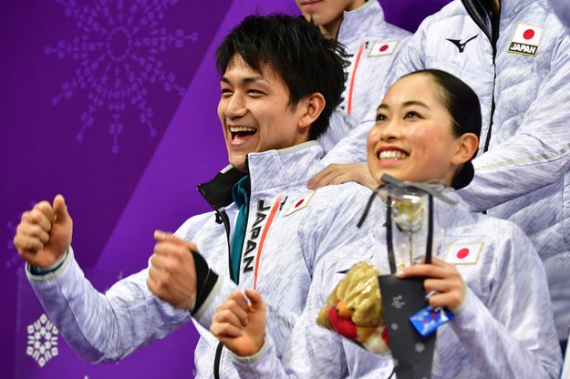 The Japanese duo finished eighth and achieved a score of 57.42 points for their performance, their highest of the season.