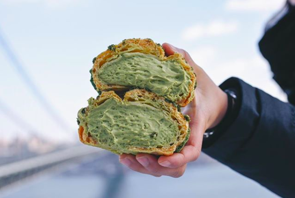 Matcha Cream Puff from Bibble & Sip