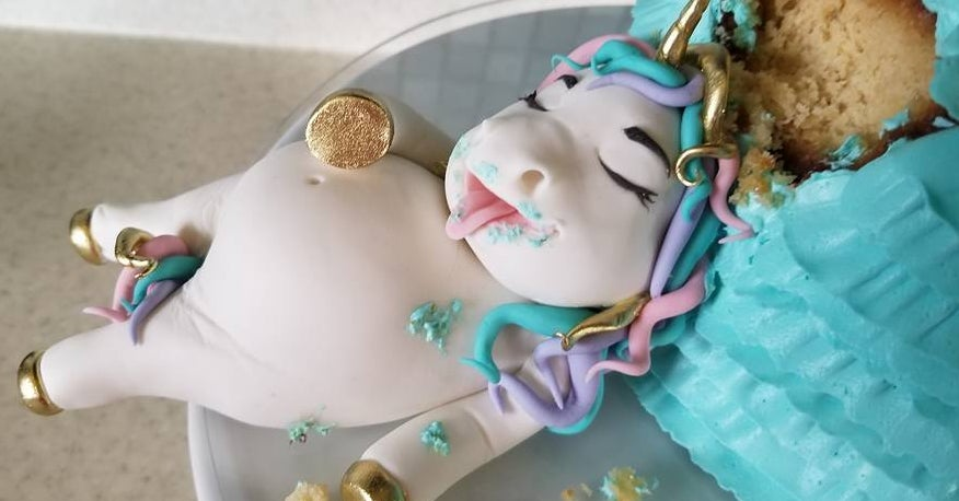 This Fat Unicorn Cake Might Just Be The Cutest Thing You